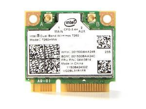 Intel  7260HMWDTX1H.R  PCIe x1  Dual Band Wireless-AC 7260 for Desktop