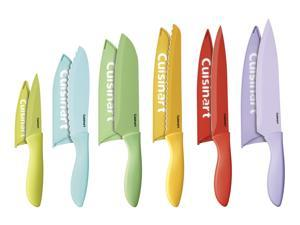 Cuisinart  C55-12PCER1  12pc Ceramic Coated Color Knife Set with Blade Guards