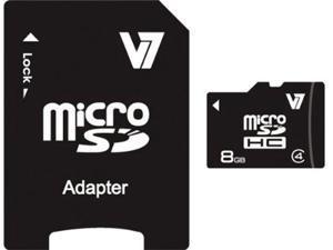 V7 VAMSDH8GCL4R-1N 8 GB MicroSD High Capacity (microSDHC) - 1 Card