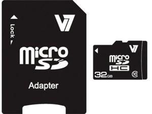 V7 32 GB microSD High Capacity (microSDHC) - 1 Card - Retail