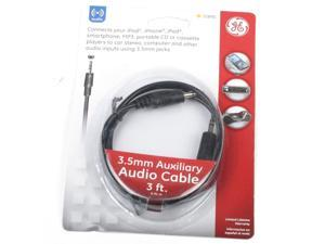GE JAS72890 3 Feet 3.5mm To 3.5mm Basic Auxiliary Audio Cable