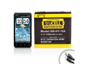 Extended Power Battery for Sprint HTC EVO 3D ( 1300mAh ) **Includes Micro USB Charge Cable