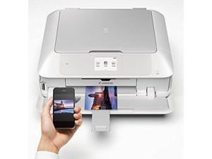 Canon PIXMA MG7720 Wireless Inkjet Photo All-in-One Printer - White #0596C022