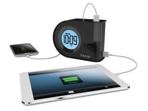 iHome iH402B Dual-Charging Dual Alarm Clock with USB & Removable Power