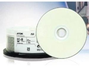 Disc Blu-ray Single Layer 25GB WHT IJ Pro Hub Printable 1-2x