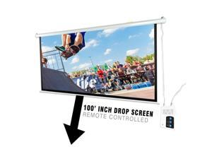 "Pyle Prjelmt106 Motorized Projector Screen (100"")  6.00in. x 94.25in. x 6.50in."