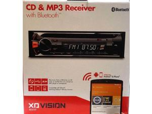 Xo Vision Xr301bt Single-Din In-Dash Cd Am/fm-Mpx2 Receiver With Bluetooth(r)  9.40in. x 8.80in. x 3.40in.