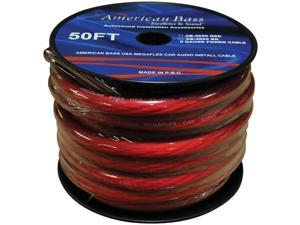 New American Bass Ab4655rd50ft 1/0 Awg Wire Red 50 Foot Wire Spool