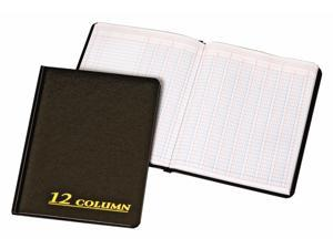 Account Book, 12 Column, Black Cover, 80 Pages, 7 x 9 1/4 ARB8012M