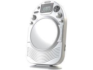Jensen Jcr525 White Shower Radio Am/Fm Stereo Cd Player