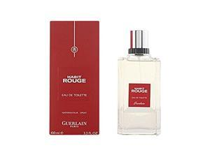 Habit Rouge Cologne Spray by Guerlain, 3.3 Ounce