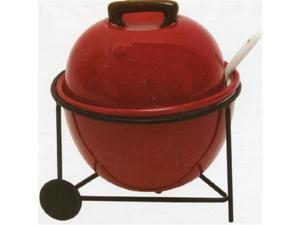 Backyard BBQ Condiment Bowl 4 piece set - 12 oz Bowl with lid, Wire Rack and Spoon
