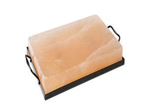 "Charcoal Companion CC6064 Himalayan Salt Plate & Holder Set, 12"" x 8"" x 1.5"""