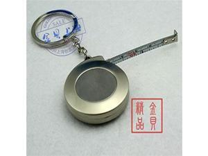 Stainless Steel Keychain Ring Circle Tape Measure Small Portable Pull Ruler