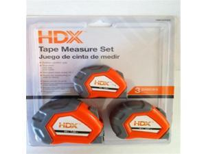 HDX Tape Measure Set- 3 Pack