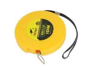 10M Yellow Plastic Case Rolling Reel Retractable Tape Measure Ruler