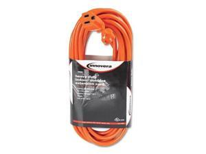 INNOVERA 72225 Indoor/Outdoor Extension Cord, 25ft, Orange