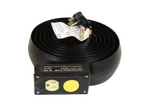 C-Line Lay-Flat Power Extension and Cord Cover, 10 Feet Long (79101)