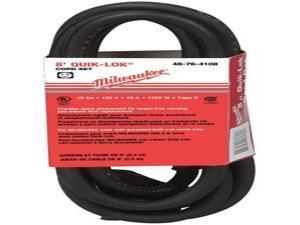 Milwaukee 48-76-4108 Quik-Lok 8-Feet 3-Wire Grounded Cord with Twist Lock Plug
