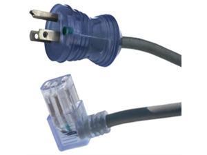 Conntek 25567 15-Amp 125-Volt Hospital Grade/Green Dotcord 20-Foot SJT 14/3 105C NEMA 5-15P to IEC 320-C13 Right Angle