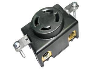 Conntek 80619 Locking Flush Mount Receptacle, 30-Amp 125/250-Volt, NEMA 14-30R