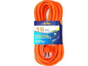 Luxrite Lr61215 Heavy Duty Indoor/outdoor 14 AWG 15-feet Extension Cord, for General & Larger Purposes, Color Orange, ETL Approved