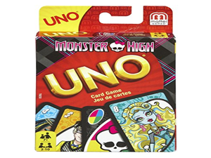 112 Cards, Monster High UNO Card Game