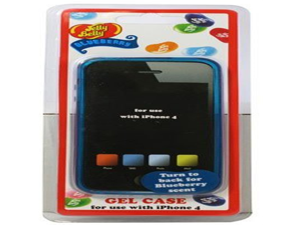 "Jelly Belly Apple iPhone4 4S Blue Rubber Protector Skin Gel Case Cover With ""Blueberry"" Scent - New Version: Now Fits iPhone 4S"