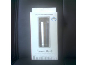 2600mAh Portable Silver External Power Bank Battery Charger For iPhone5 4S 4 3GS i9300