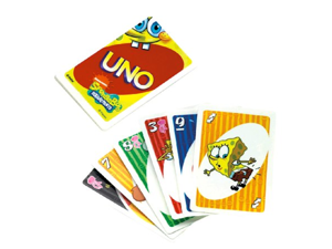 Spongebob Squarepants Uno Card Game by Mattel by Nickelodeon
