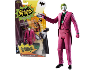 Mattel Year 2013 Batman Classic TV Series 6 Inch Tall Action Figure Set - THE JOKER with Display Base and Collector Card