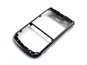 Black Front Bezel Frame Housing Cover Case Faceplate Panel Fascia Plate For BlackBerry Bold 9650