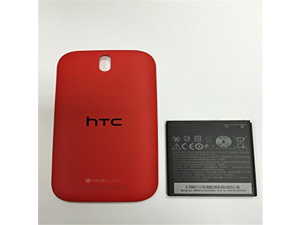 New OEM HTC One SV S V C525e BM60100 Battery and Red Back Door Cover Boost