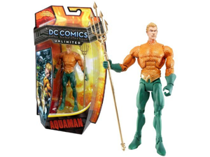 Mattel Year 2013 DC Comics Unlimited Series 6-1/2 Inch Tall Action Figure Set - AQUAMAN (Arthur Curry, Orin) with Trident