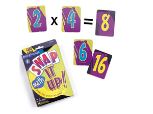 Learning Resources Snap It Up! Math: Multiplication Card Game
