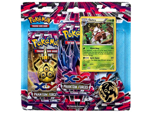 Pokemon X & Y Phantom Forces 3-Pack Special Edition [with Shiftry Single Card]