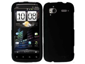 Black Snap-On Protector Hard Cover Case for HTC Sensation 4G (T-Mobile)