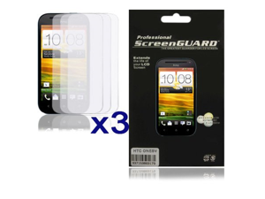 HTC One SV Clear Screen Protector 3-Pack Combo