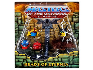 Masters of the Universe Heads of Eternia Accessory Pack - includes alternate heads for Grizzlor, Buzz-Off, Sy-Klone, Roboto, Snout Spout, and Clawful