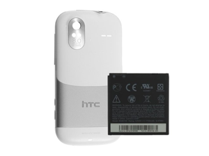 OEM Replacement Battery (1730 mAh) w/ Battery Back Door Cover for HTC Amaze 4G (White)