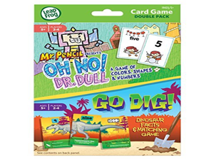 Leapfrog Card Game Double Pack Colors, Shapes, &Numbers / Dinosaur & Matching Game by Unknown