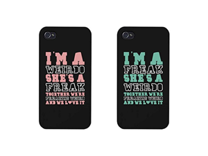 Funny BFF Phone Cases - Freak and Weirdo Phone Covers for Apple iphone 4, iphone 5, iphone 5C, iphone 6, iphone 6 plus, Samsung Galaxy S3, Galaxy S4, Galaxy S5, Galaxy S6, Note 4, HTC M8, LG G3