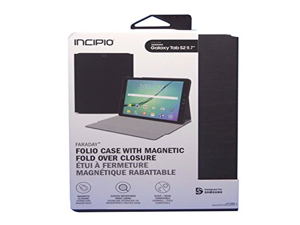 Incipio Faraday Magnetic Folio Case for Samsung Galaxy Tab S2 - Retail Packaging - Black