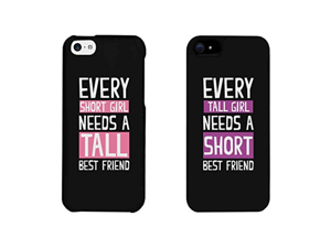 BFF Phone Cases - Tall and Short Best Friend Phone Covers for iphone 4, iphone 5, iphone 5C, iphone 6, iphone 6 plus, Galaxy S3, Galaxy S4, Galaxy S5, HTC M8, LG G3