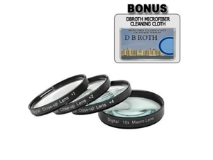 Digital Concepts +1 +2 +4 +10 Close-Up Macro Filter Set with Pouch For The Panasonic Lumix FZ20, FZ10 Digital Cameras