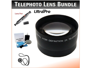 46mm Digital Pro Telephoto Lens Bundle for the Olympus Pen E-P5 Micro 4/3 with 17mm f1.8 Lens. Includes 2x Telephoto High Definition Lens, Lens Pen Cleaner, Cap Keeper, UltraPro Deluxe Cleaning Kit