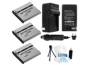 3-Pack LI-50B High-Capacity Replacement Batteries with Rapid Travel Charger for Select Olympus Cameras. UltraPro Bundle Includes: Camera Cleaning Kit, LCD Screen Protector, Mini Travel Tripod