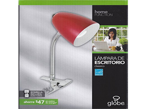 Globe 5249901 Energy Star 13-watt Fluorescent 15-inch Desk Lamp Red