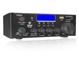 Pyle PVA3U 60 Watts Hi-Fi Mini Amplifier with USB/SD Card Player