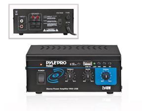 New PYLE PRO PCAU22 Mini 80 Watt Stereo Power Amplifier